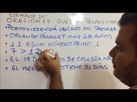 ORACIONES QUE SON PROPOSICIONES Y QUE NO SON PROPOSICIONES (LÓGICA VIDEO 2)