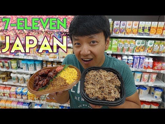 Brunch at 7-ELEVEN VS LAWSON in Tokyo Japan