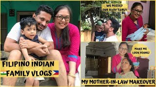 MY MOTHER-IN-LAW MAKEOVER || A VISIT TO BABY TANVI || Filipino Indian family Vlog # 78