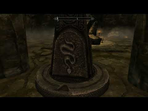 Skyrim Special Edition - The World-Eater's Eyrie: Skuldafin Temple: First Pillar Gate Puzzle (2016)