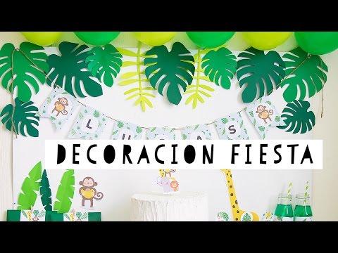 Youtube Decoracion La Selva De Fiesta OkXPiZu