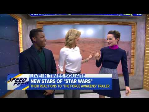 'Star Wars' Actors' Emotional Reaction to  'The Force Awakens' Trailer