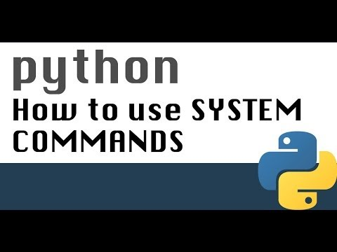 How to use system commands in Python with subprocess module