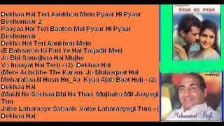 Dekha Hai Teri Aankhon ( Pyaar Hi Pyaar ) Free karaoke with lyrics by Hawwa -