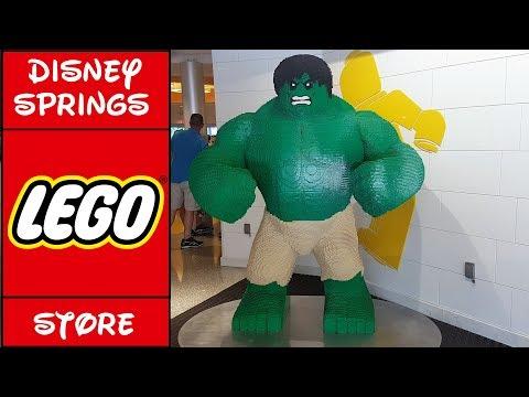 Disney Springs LEGO Store Tour   Orlando Florida