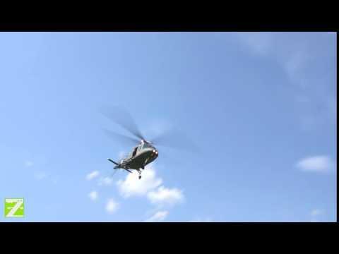 AGUSTA A-109 CLOSE FLYBY