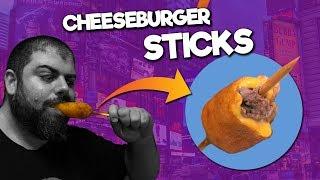 ℗ Hamburguesa con queso en palito | Superpilopi