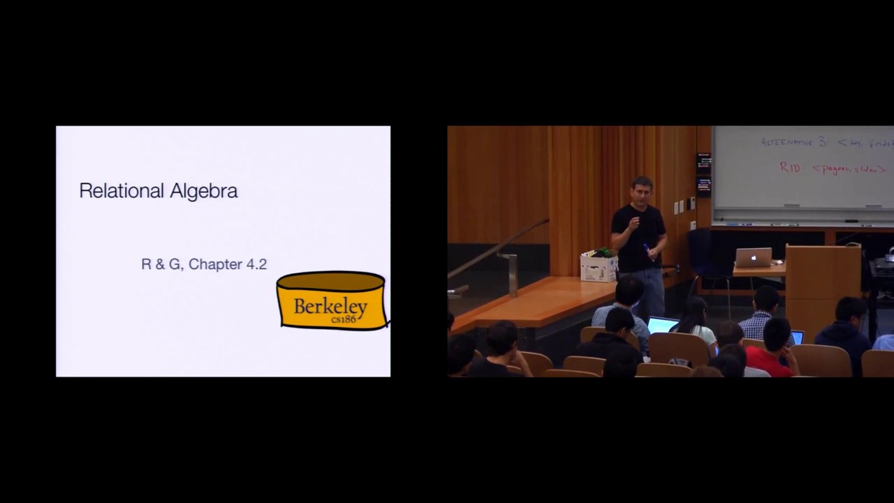 Lecture 08  Relational Query Languages (CS 186, Spring 2015, UC Berkeley)