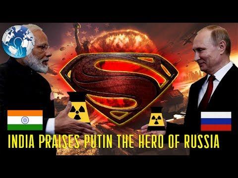 NARENDRA MODI Praises Vladimir PUTIN as the HERO of Russia