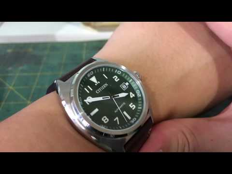 Short Review On The Citizen Mechanical Aviator Green Dial NJ0100 38X By Watch Hobby