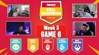 Fortnite #FallSkirmish  Tfue vs Ninja vs Myth vs nickmercs  Week 3 - Game 6