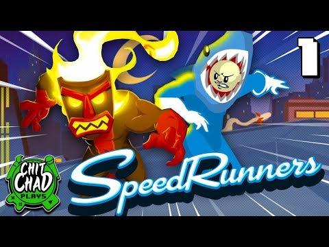 Shark-Man vs Tiki-God! | SpeedRunners - Part 1 w/Dustin |