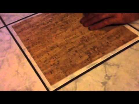 kork teppich auf fliese fixieren youtube. Black Bedroom Furniture Sets. Home Design Ideas