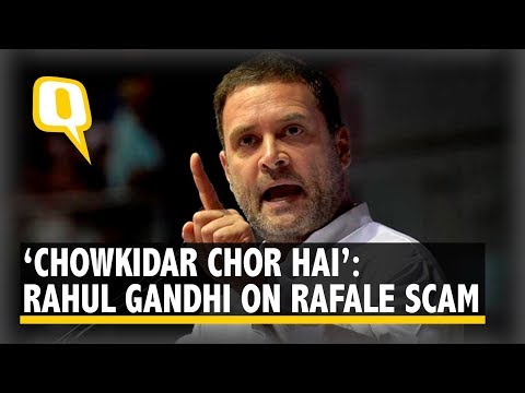 Ex-French PM Called Our PM a Thief: Rahul Gandhi on Rafale Deal   The Quint
