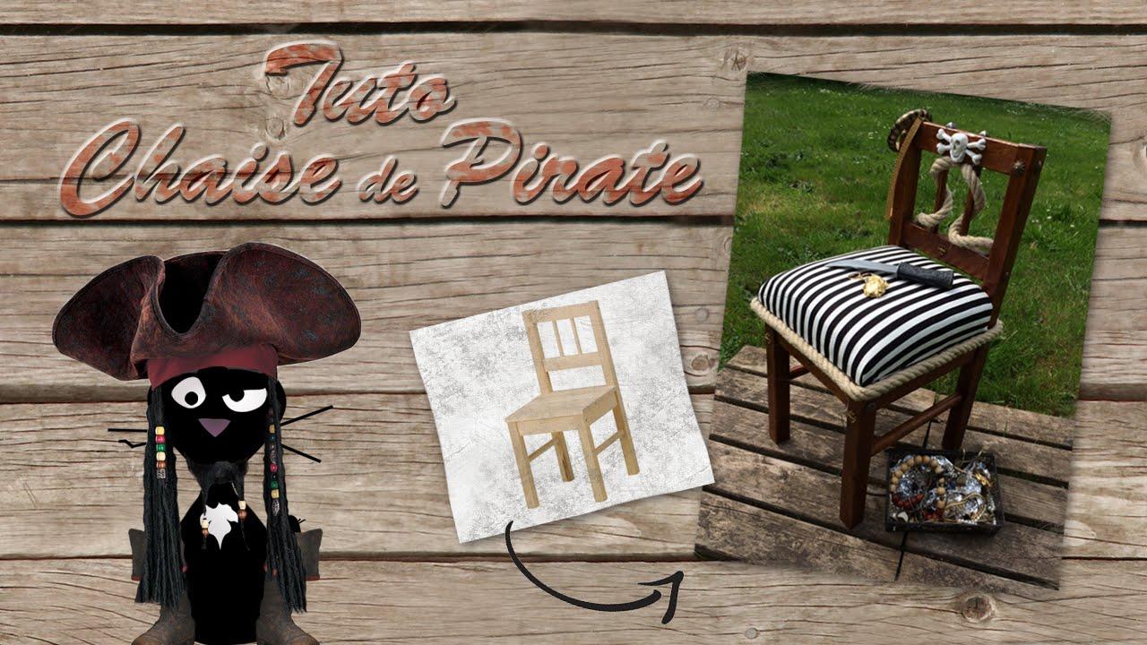 tutoriel pour fabriquer une chaise de pirate how to make a pirate chair