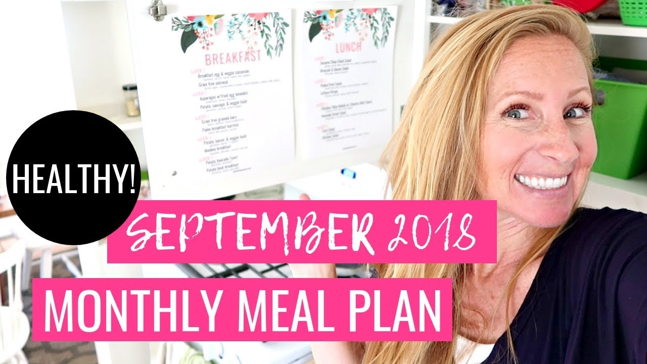 Whole30 HEALTHY Monthly Meal Plan on a Budget | Breakfast – Lunch – Dinner FREE PRINTABLE Meal Plan