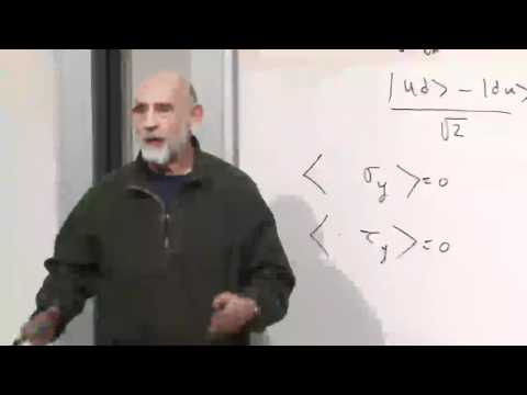 Lecture Video 7 Of The Theoretical Minimum Quantum Mechanics By