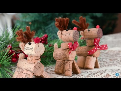 Reindeer Wine Cork DIY Christmas Ornament | Simplemost