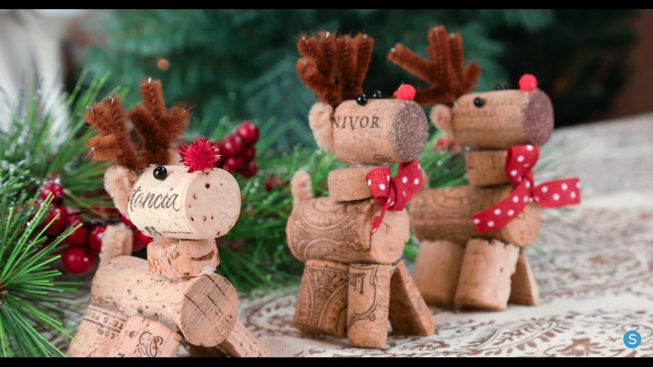 reindeer wine cork diy christmas ornament simplemost youtube