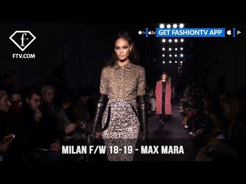 Doutzen Kroes in Max Mara Milan Fashion Week Fall/Winter 2018-19 Collection | FashionTV | FTV