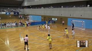 5日 ハンドボール女子 国体記念体育館 Dコート 高岡向陵×富士 1回戦 1