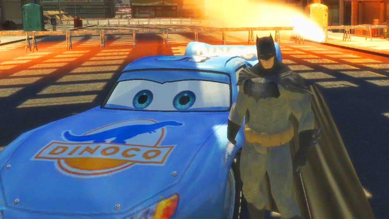 Бэтмен, Железный человек и Человек паук : гонки на машине ...