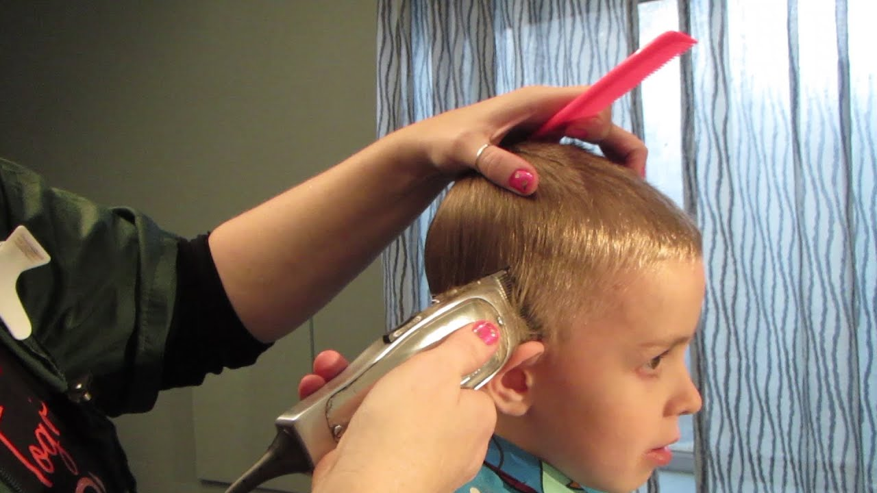 Toddler haircut with clippers