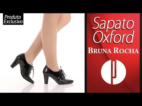 a07238111 Sapato Oxford Feminino Bruna Rocha - Preto - 6030414812 - YouTube