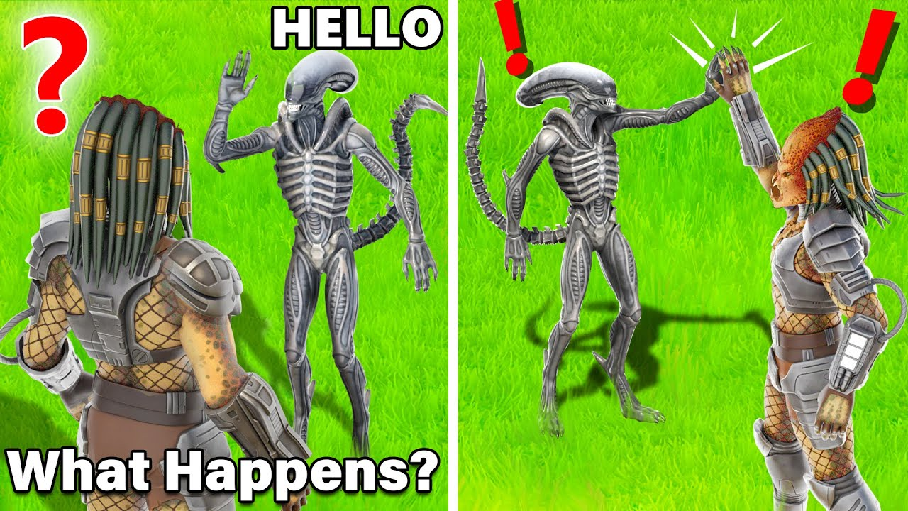 What Happens if Boss Alien Meets Boss Predator in Fortnite