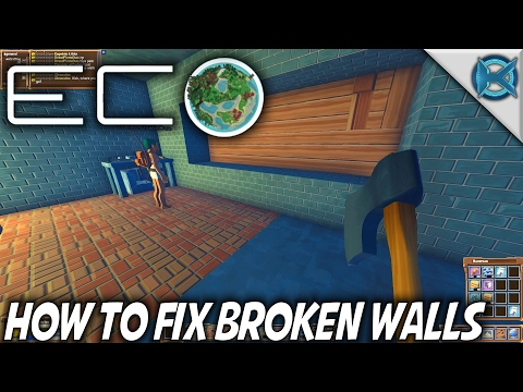 Eco | How to Fix Broken Walls | Let's Play Eco Gameplay | S01E12