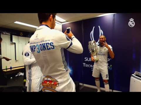 Check out our UEFA Super Cup dressing-room celebrations!