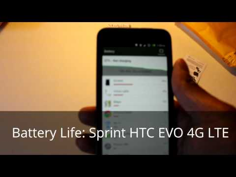 Sprint HTC EVO 4G LTE: Battery Life