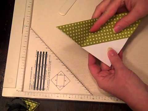 how to make a corner bookmark with scrapbook paper youtube