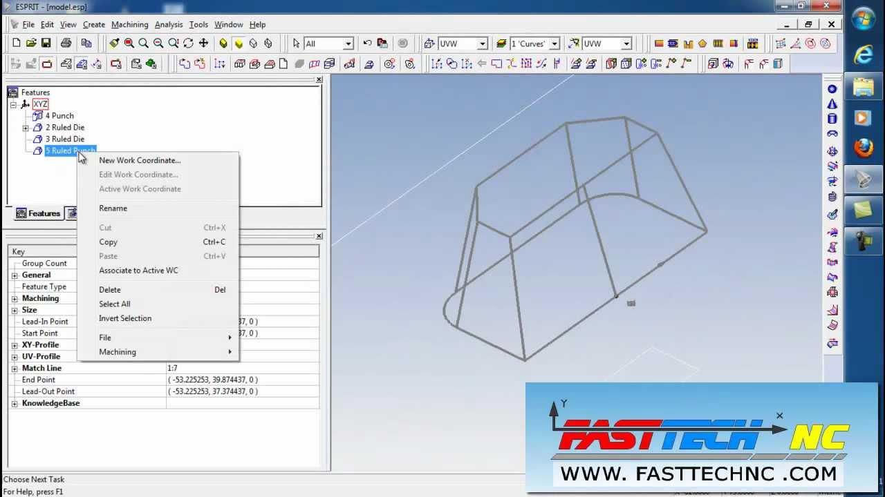 โปรแกรม ESPRIT CAM Features manu Wire EDM Wire Cut 2D CIMATRONE10 ...