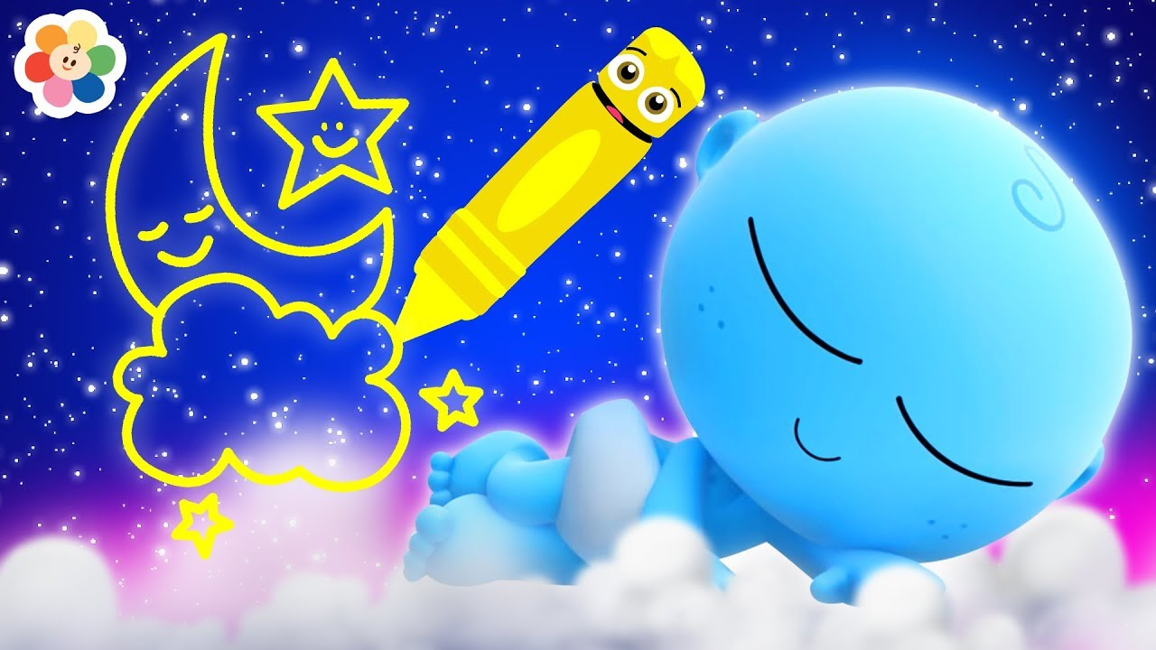 GooGoo Baby Draws the Night Sky | Coloring Pages for Kids by ...