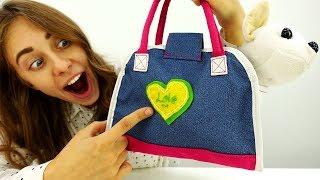 Барби и Вика украшают сумку для Чичилав - Видео для девочек