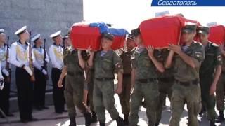 В Севастополе захоронили останки бойцов 35 й батареи