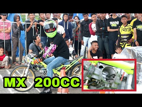 GILA !!! MX 200cc vs NINJA 155cc