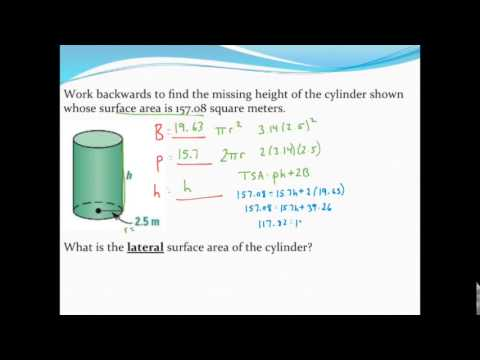 Working Backwards From Total Surface Area To Find A