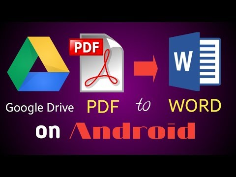 How To Convert PDF To Word On Android | PDF To Word On Android