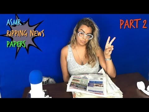 ASMR RIPPING NEWS PAPER PART2