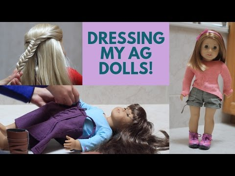 Dressing My American Girl Dolls!