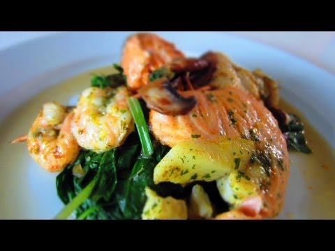Grilled Fish + Sauté Spinach: Easy Healthy Delicious Cooking