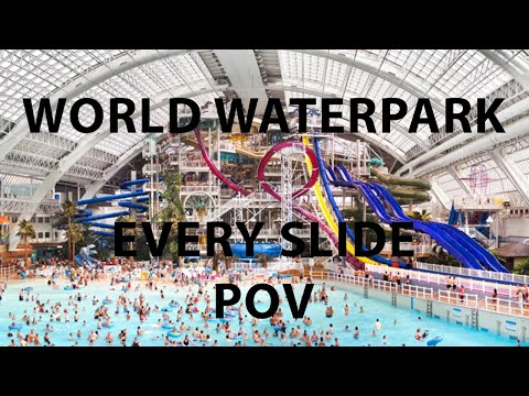 World Waterpark All Slides (4K POV) Edmonton, AB
