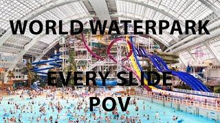 World Waterpark All Slides (4K POV) Edmonton, AB