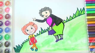 """DRAW AND COLOR"""" NINA NEEDS TO GO"""" COLORIG PAGE FOR KIDS-HOW TO DRAW NINA NEEDS TO GO"""