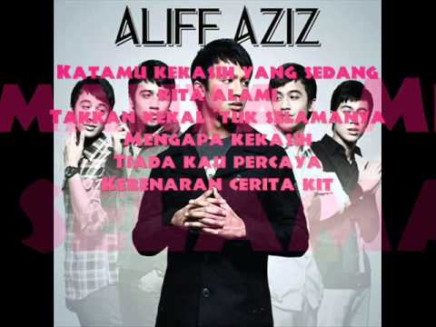 Aliff AZiZ-Cinta Arjuna (Tong Hua) lyrics -HD-