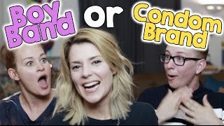 One of Grace Helbig's most viewed videos: BOY BAND OR CONDOM BRAND w/ TYLER OAKLEY & MAMRIE HART // Grace Helbig
