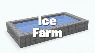 Minecraft Simple Ice Farm Tutorial 1.16.3