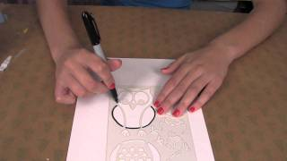 Owl Stencil:  How To Use The Owl Stencil In Supply Sack